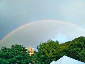 A vibrant Hawaiian rainbow